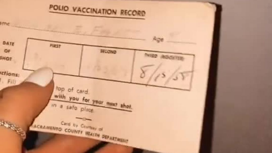 Polio vaccine card.. History repeats, interesting its 2 doses