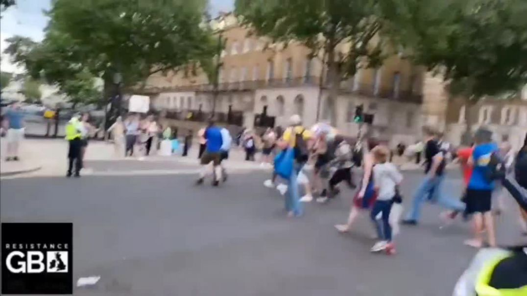 BBC RECEIVES A WARM WELCOME AT THE DOWNING STREET PROTEST 14.06.21.