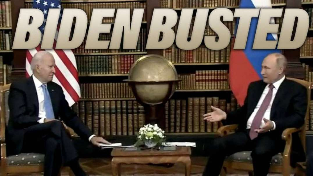 Biden Caught Using Flashcards for Putin Summit and Press Conference