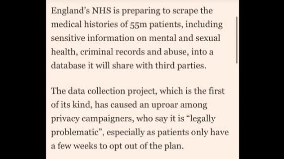 SHARE Hugely important NHS Will Share Your Data opt out