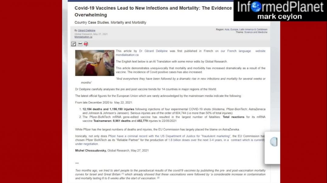 Covid-19 Vaccines Lead to New Infections and Mortality: The Evidence is Overwhelming ...are you stil