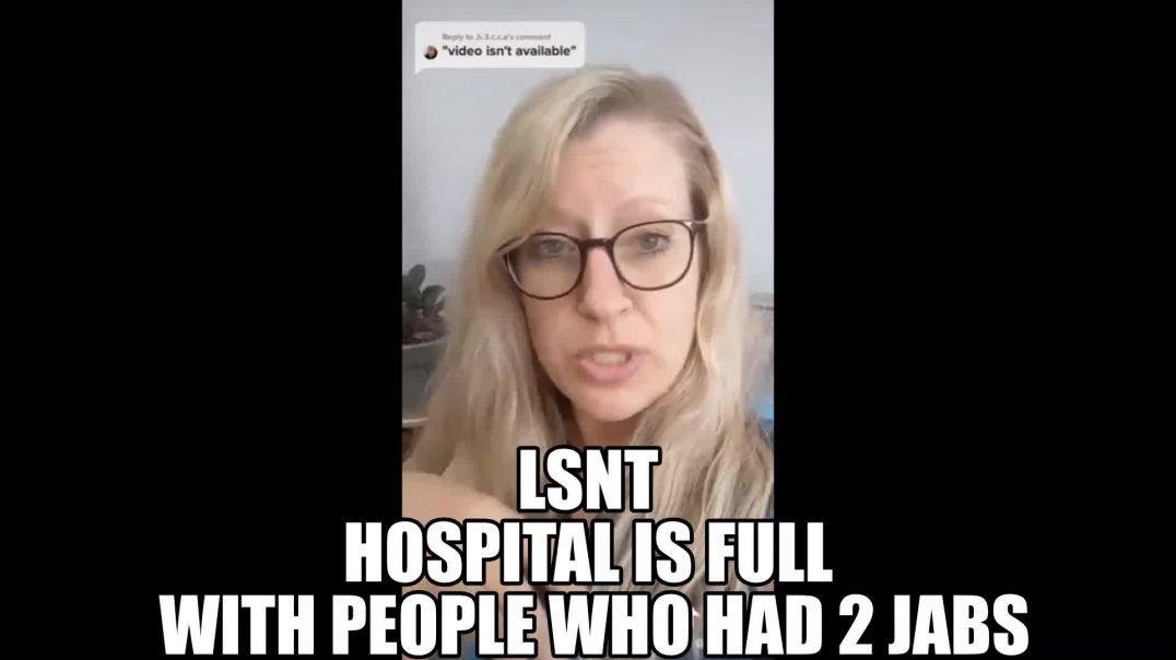 NURSE SAYS.. Covid ward full of sick people guess what all have been vaccinated twice!