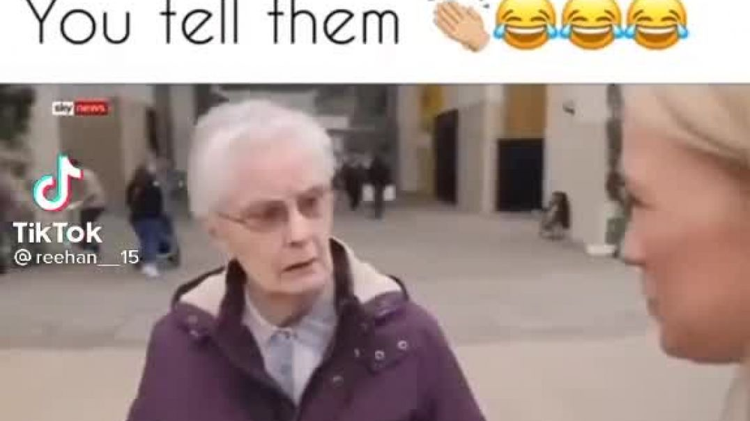 THIS OLD LADY'S REPLY TO SKY NEWS IS PRICELESS!!