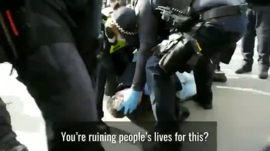 Brutally ARRESTED by NAZI cops for not wearing a FACE MASK