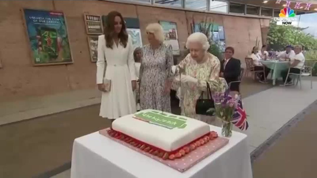 The Lizard Queen - USES A LONG SWORD - to chop up a cake instead of BoJo's head
