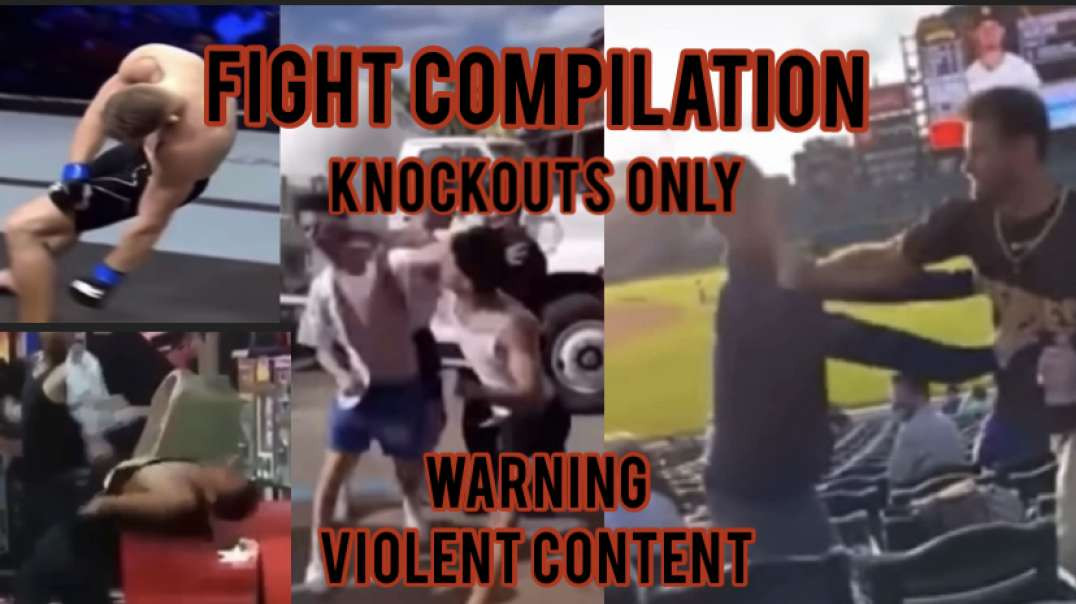 Fight video KO's ONLY -  street fights 1 hitter quitter