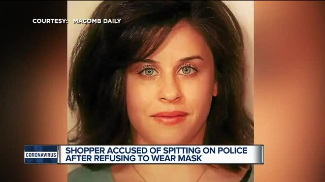 Lady spits on police when asked to wear face mask. More face mask problems everywhere