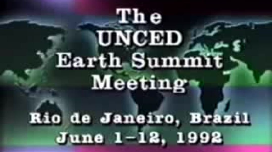 UN UNCED   Earth Summit 1992 by George Hunt