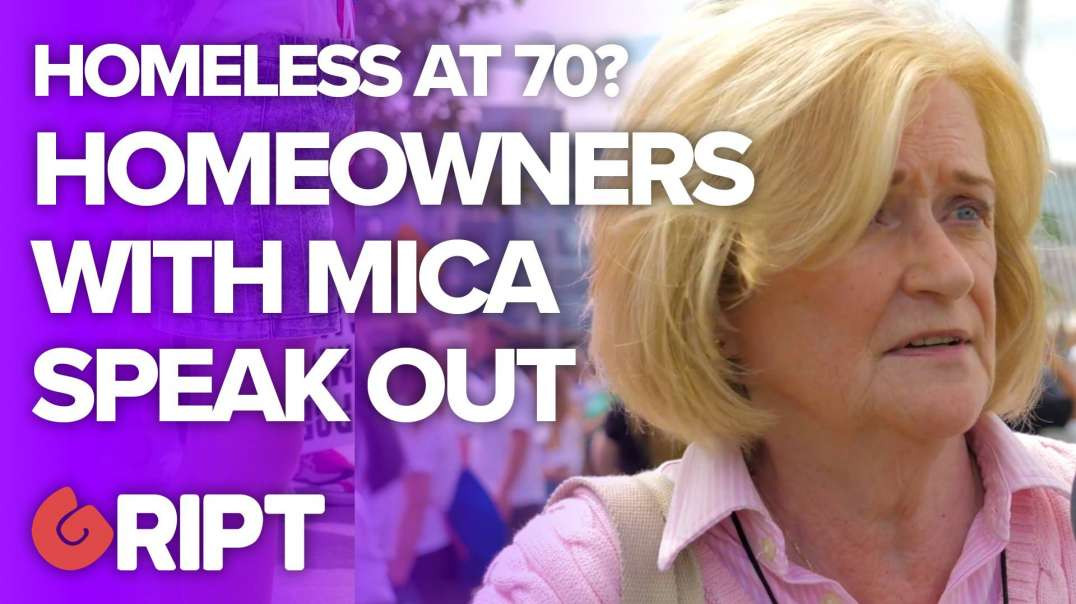 """""""I'm facing homelesness at 70"""" - Mica protesters speak out"""