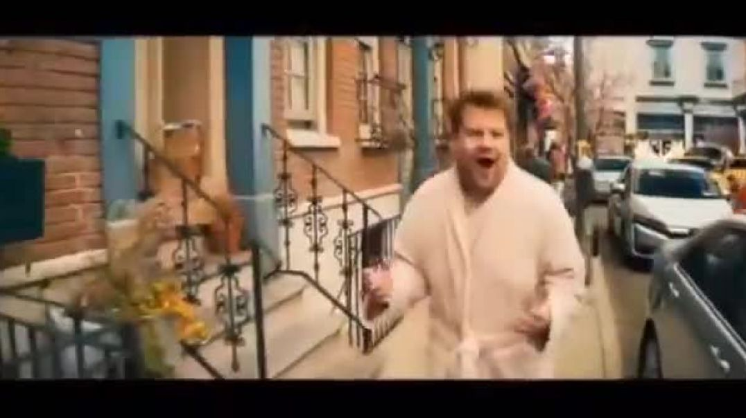 Celebrity Sellout James Corden pushing the vaccine depopulation agenda
