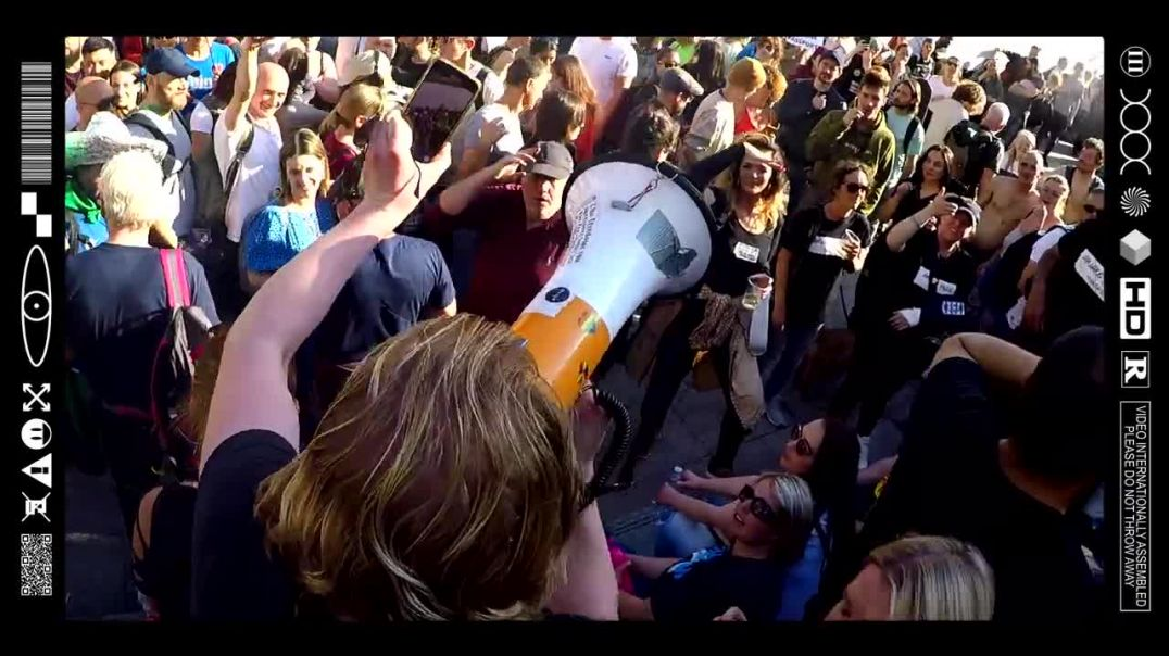 (EMB) MEGAPHONE MESSAGES FROM THE WESTFIELD FREEDOM FIGHTERS FRONTLINE (29/05/21)