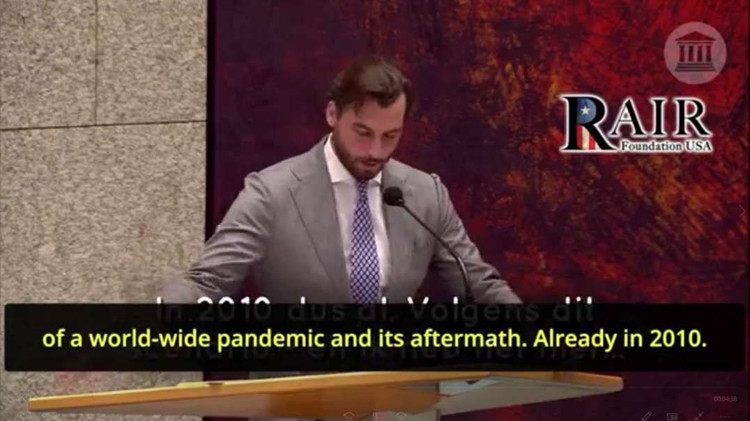 Dutch Leader Thierry Baudet Stuns Parliament & Exposes Globalist Covid Cult