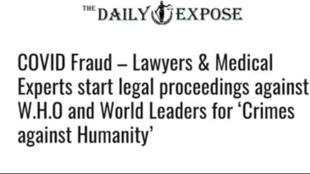 NUREMBERG 2.0: LAWYERS AND MEDICAL EXPERTS TO CHARGE CDC, WHO WITH CRIMES AGAINST HUMANITY