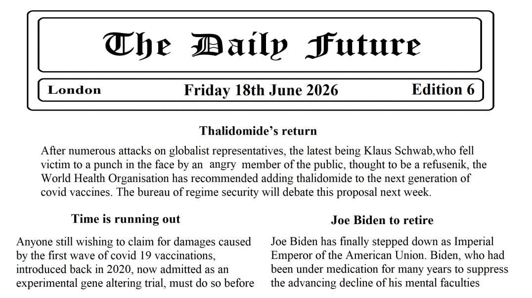 The Daily Future, edition 6