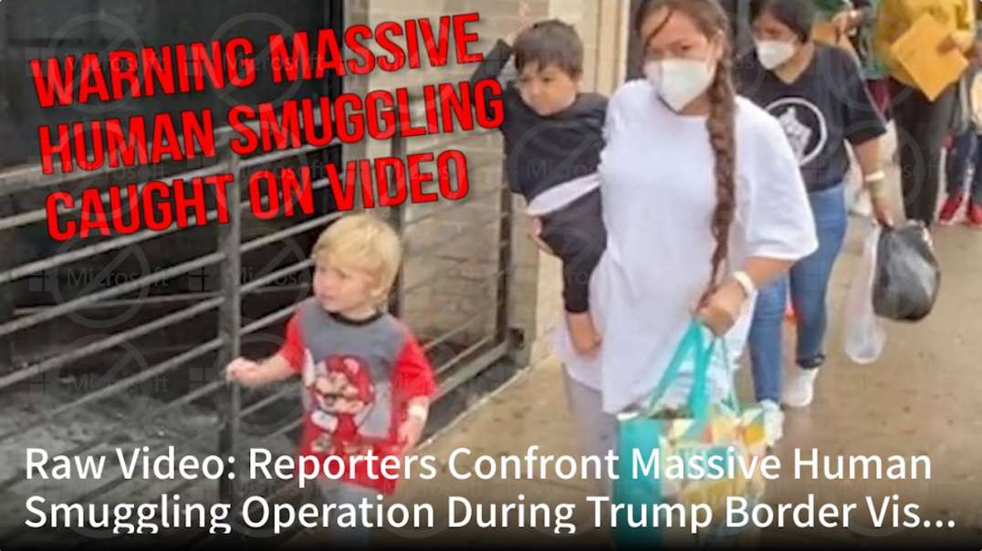 Raw Video: Reporters Confront Massive Human Smuggling Operation