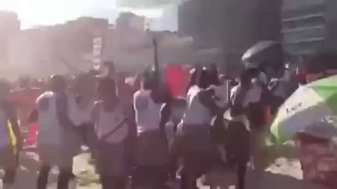 BRAZILIAN COPS TRY TO CLOSE THE BEACH BUT LOCALS KICKED THEIR ASS amp CHASED THEM OFF