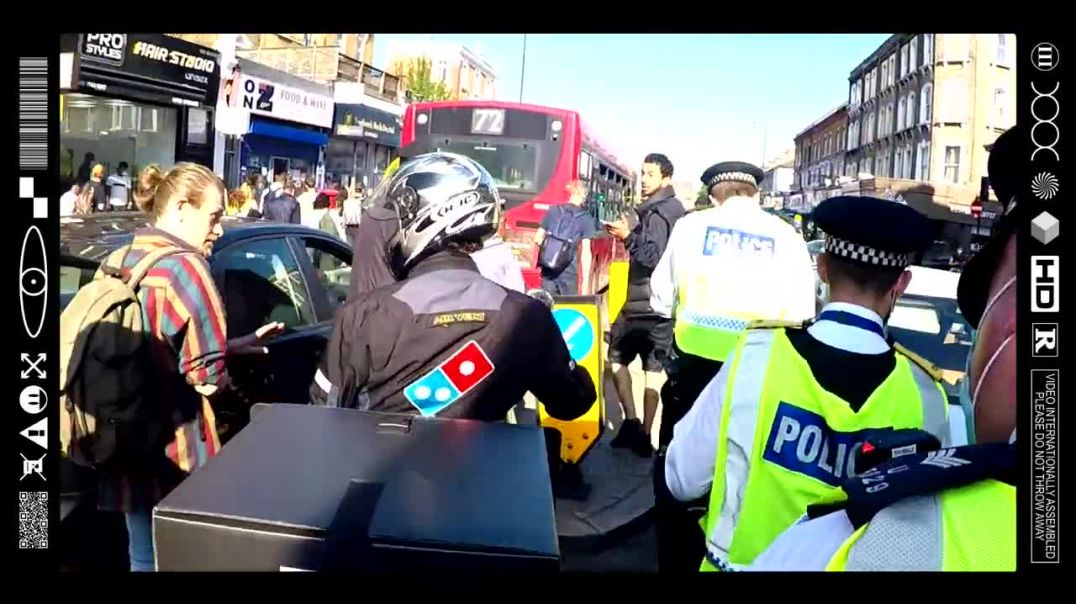(EMB) DOMMY P THE PIZZA PED PUSHER PULLS UP WITH THE PEPPERONI PASSION AT A PEACEFUL PROTEST! (1M+)