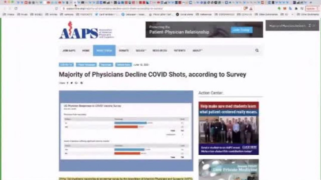 Majority of Physicians decline Covid911 shots, according to survey, nearly 60%