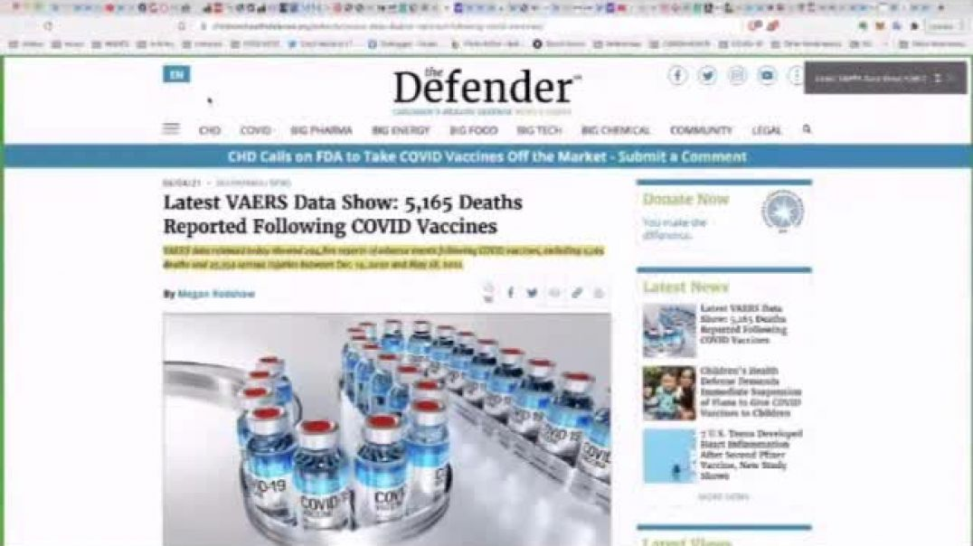 Latest VAERS data show 5165 deaths reported following Covid911 Jab