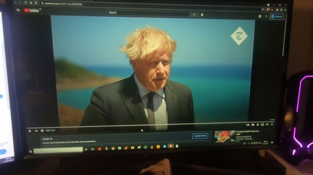 Boris lies about 21st of june and His Dad calls for the death of millions.