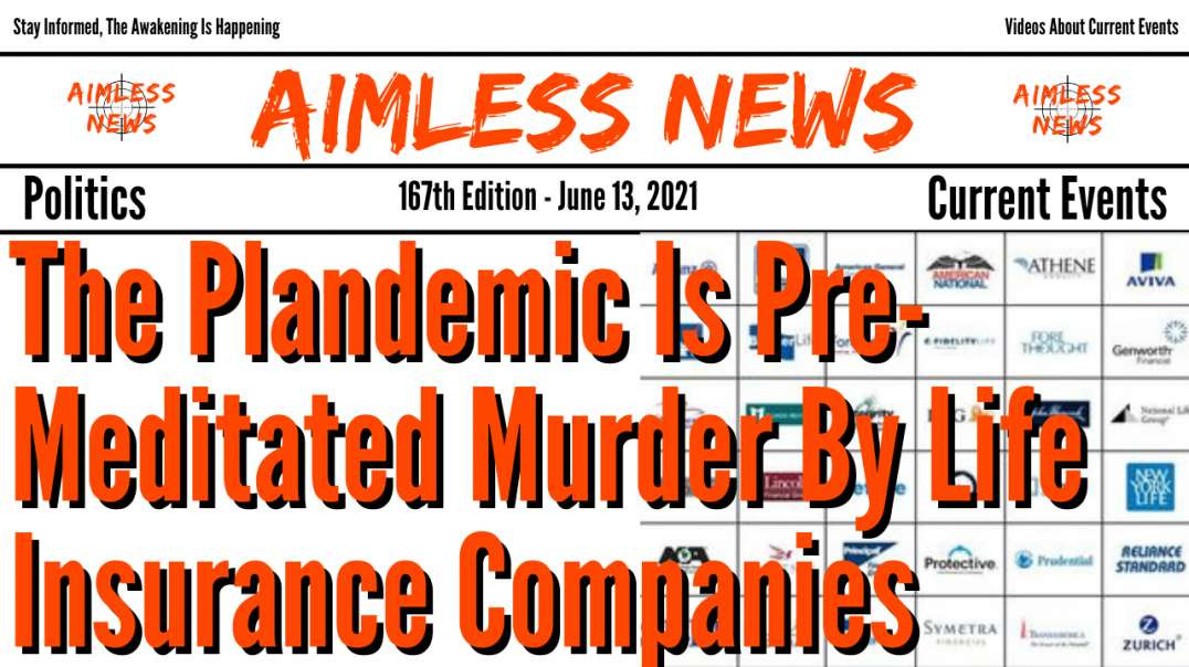 The Plandemic Is Pre-Meditated Murder By Life Insurance Companies, Dr. David Martin Explains