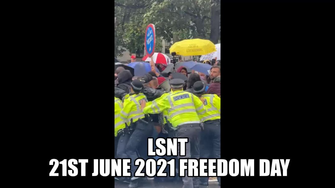 LONDON ERUPTS!!! CHAOS - The People Were PROMISED FREEDOM 21st June 2021