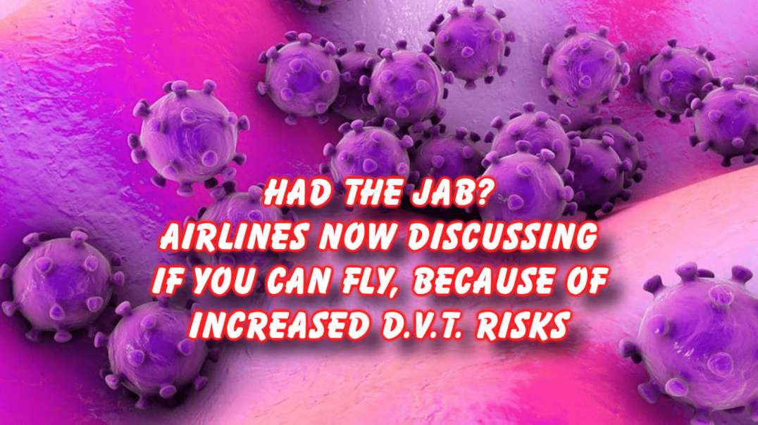Risk of DVT for jabbed who fly, airlines discussing options