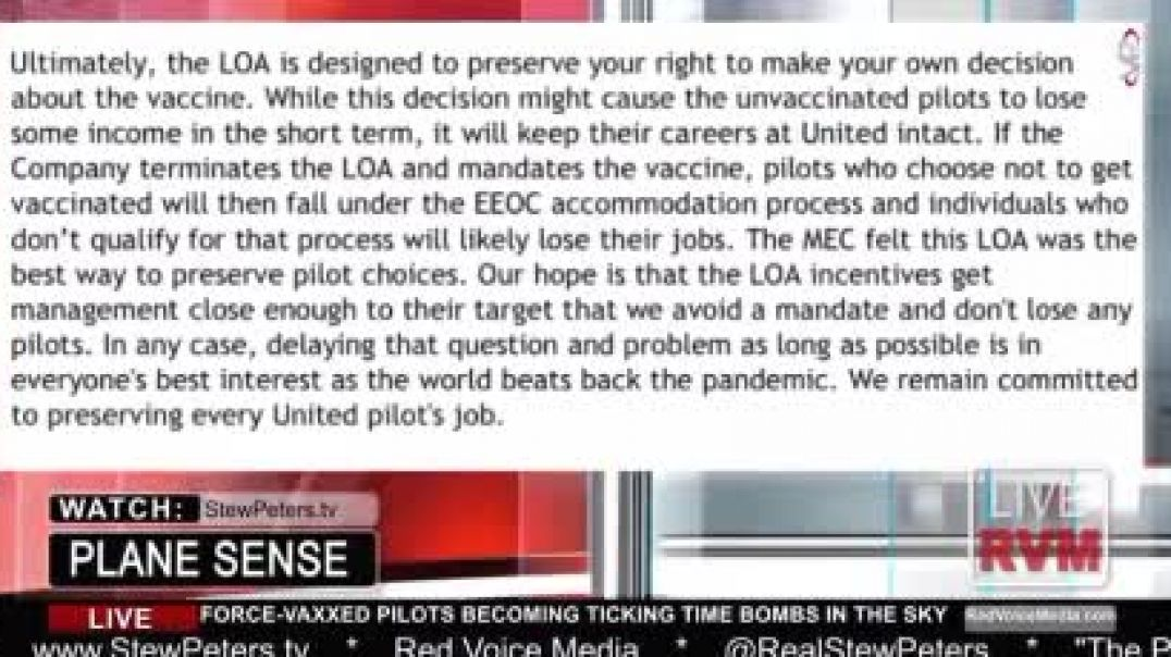 Airline Pilots Incentivized to Get Jabs, Jabbed Passengers Warned Not To Fly Because of Blood Clots
