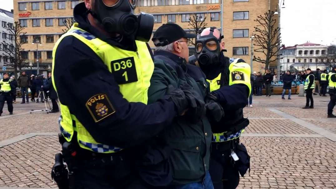 PT35 March 20th Sweden Goteborg Worldwide Freedom Rally March Demonstration Protest Anti-Tyranny