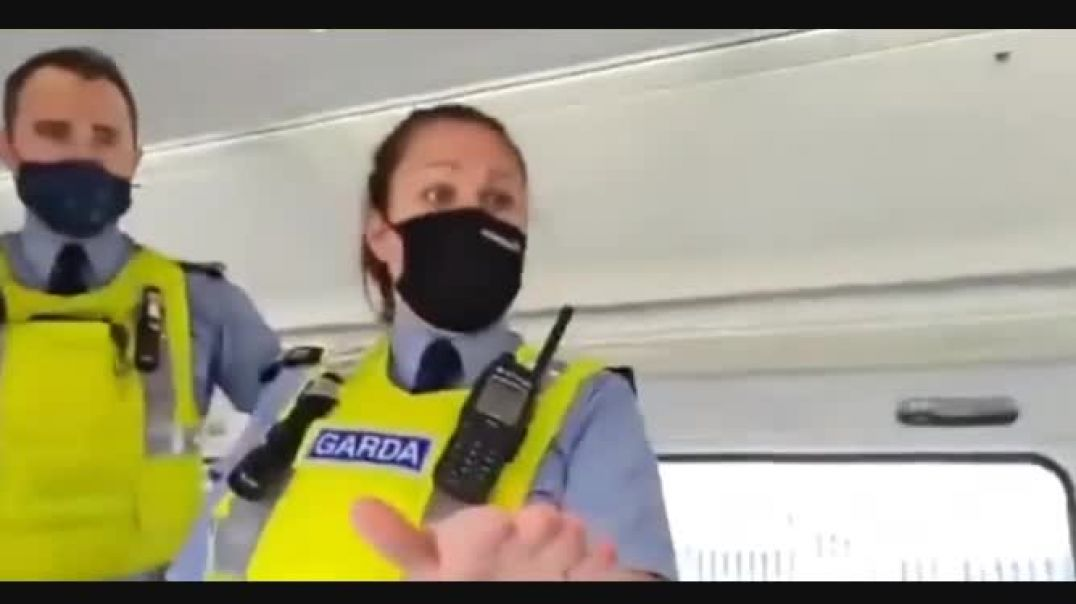 IRISH POLICE ACT LIKE THUGS TO COUPLE FOR NOT WEARING MASK ON TRAIN. MASK TODAY VACCINES TOMORROW