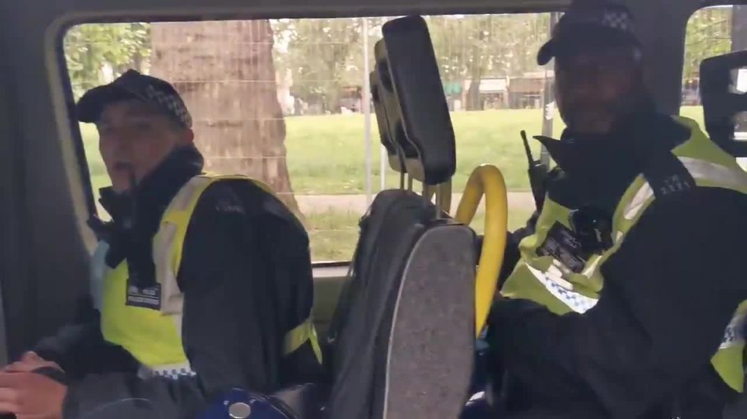 Police not happy to be filmed maskless