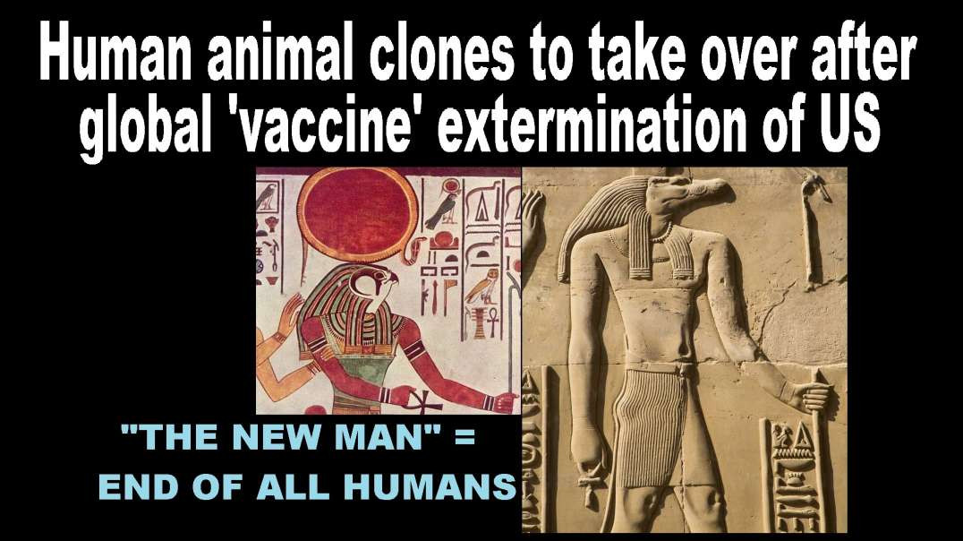 Human animal clones to take over after global 'vaccine' extermination of US