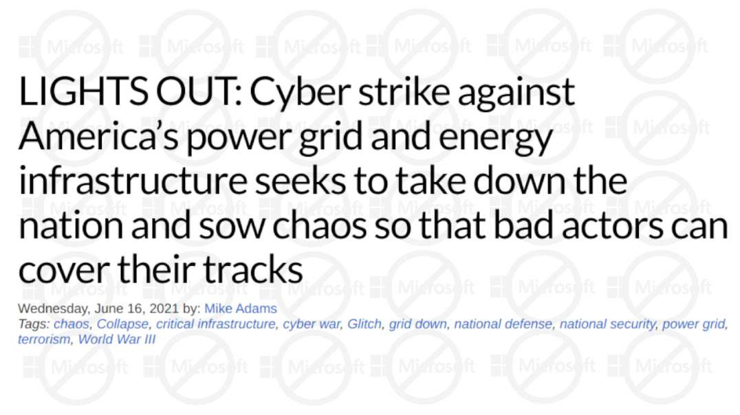 Mike Adams: Be Prepared For Cyber Attack Against America's Power Grid, Infrastructure Soon