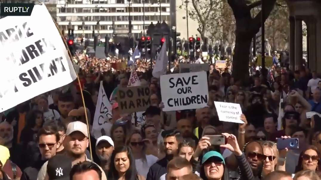 Sky News Said Many Thousands April 24th Massive London Freedom Rally Demo March Peaceful Protest