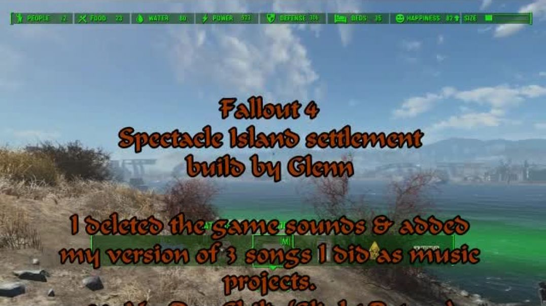 Fallout 4 Spectacle Island settlement build