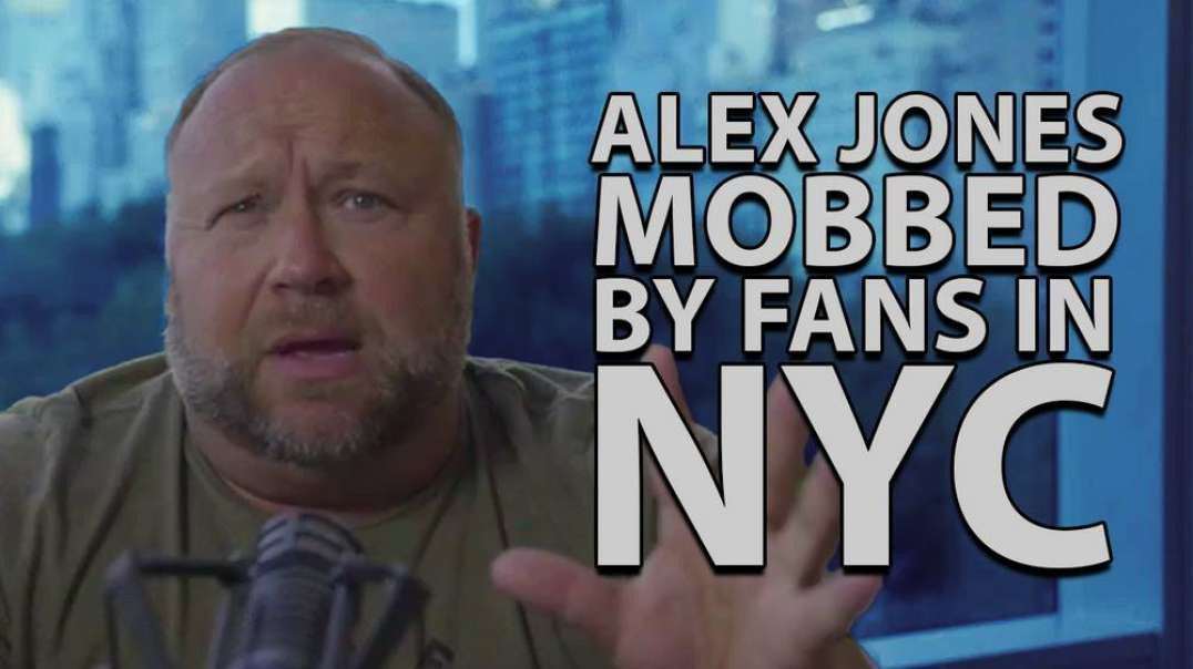 Alex Jones Live From Trump Tower Gets Mobbed By Infowars Fans