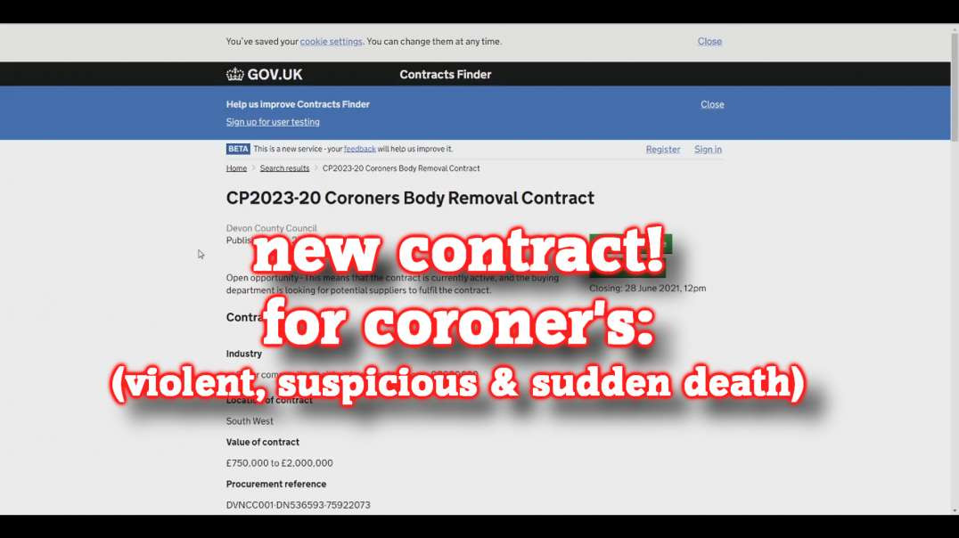 Coroners contract from September