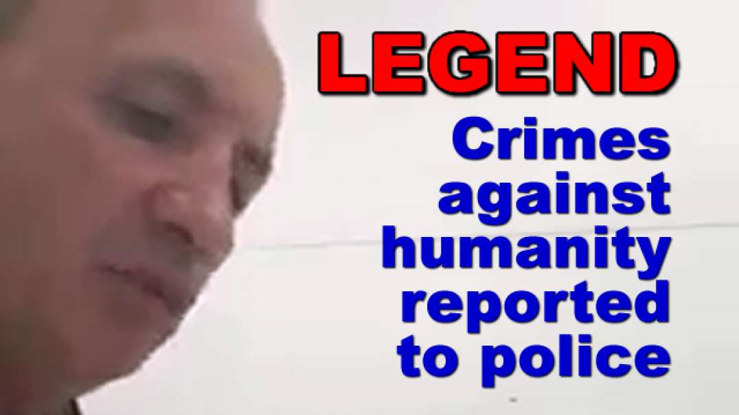 Crimes against humanity reported to police. This man is Great!
