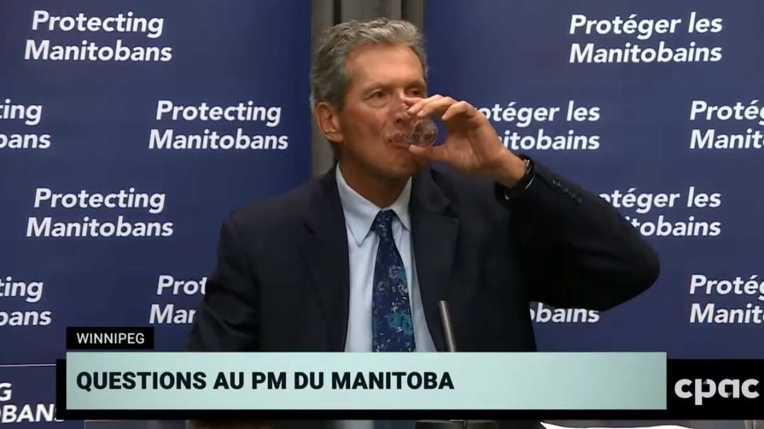 Manitoba Premier Brian Pallister Push Police State Begs For USA Vaccines Ignores Ivermectin Question