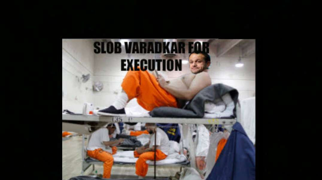 Slob Leo Varadkar for Execution - He Lives well while Irish People Die every day under his Lockdown