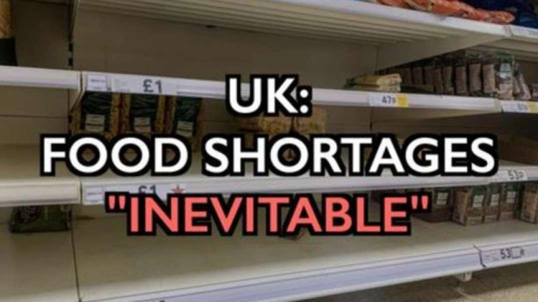 """UK: FOOD SHORTAGES 'INEVITABLE' - """"THE REAL FOOD CRISIS FOR FOOD SUPPLIES STARTS NOW!"""