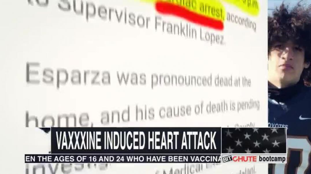 16 YEAR OLD FOOTBALL PLAYER HAS VAXXX INDUCED HEART ATTACK, DIES AT HOME