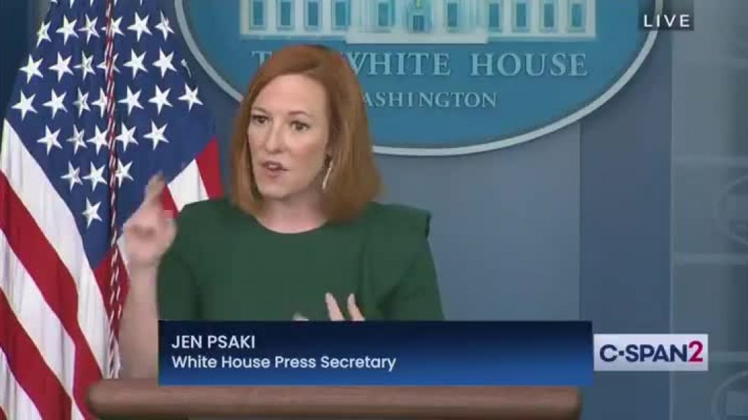 White House official Jen Psaki Admitting That Vaccines Can Kill You But It's SAFE