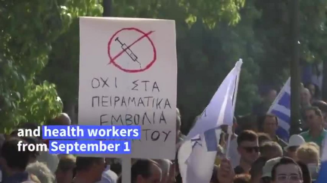 Athens, Greece - Riots Against Mandatory Vaccination