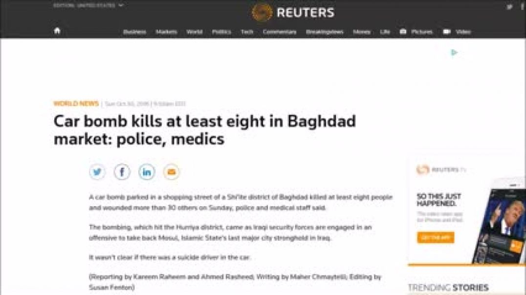 Several Die In Baghdad Car Bombing Live To Tell About It!..CHECK DESCRIPTION