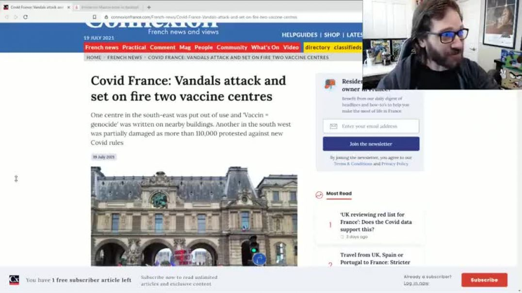 Burning Down Vaccine Centres In France!
