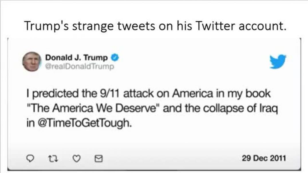 Trump's Twitter tweets about the Sep 11, 2001 WTC attacks & his book Trump: The America We