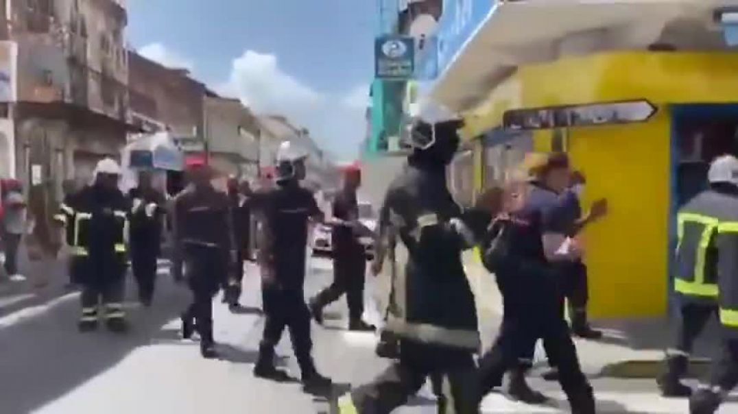Firefighters Protesting Against The Vaccine Passport - Guadeloupe France July 31