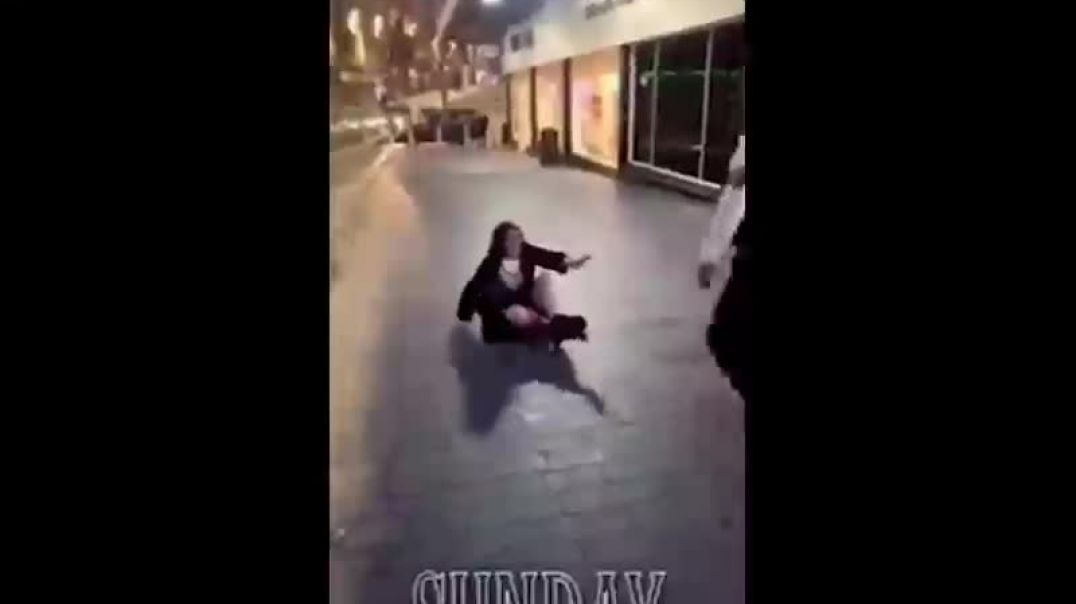 Woman throws drink at McDonald's Security Guard and GETS BEATEN UP - Birmingham
