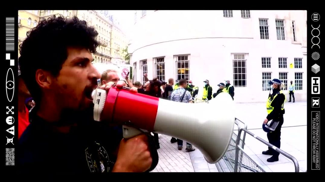 (EMB) WORD ON THE CURB - A MEANINGFUL MEGAPHONE MESSAGE FOR THE MANIPULATORS @ THE BBC (24/07/21)